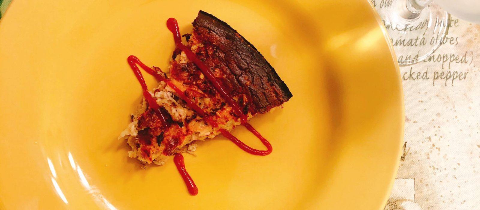 Torta de atum  com requeijão da Rê